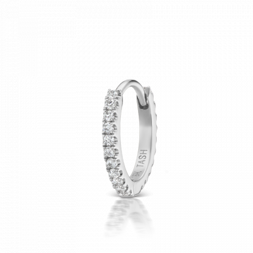 8mm Diamond Eternity Huggie