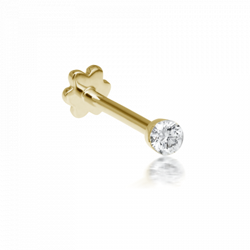 2mm Invisible Set Diamond Threaded Stud