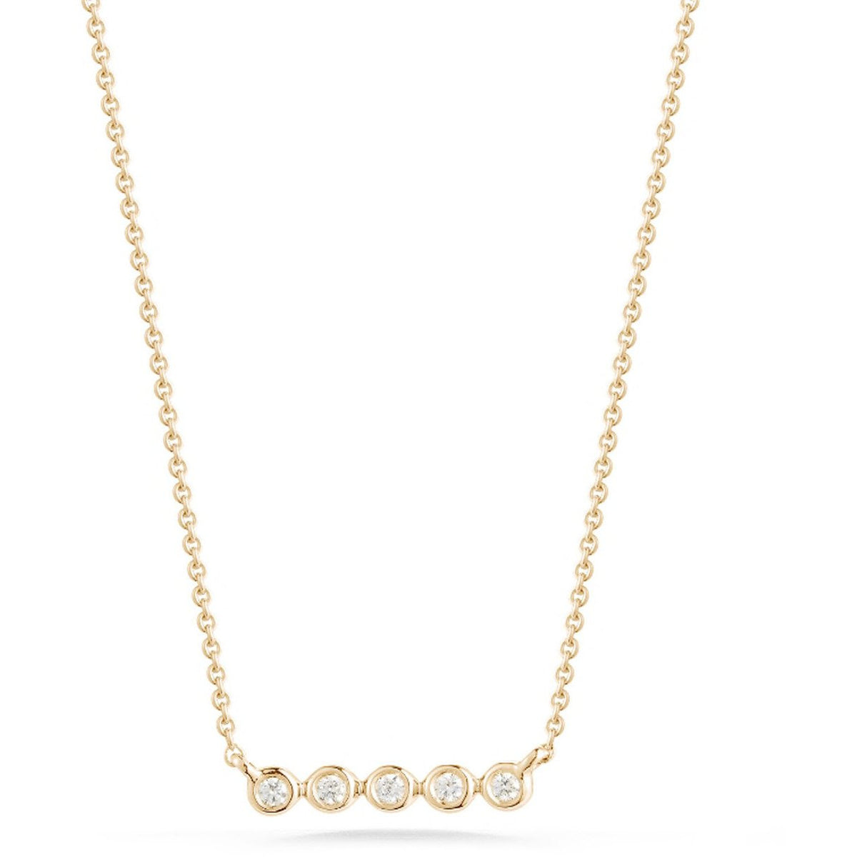 Lulu Jack Mini Bezel Bar Necklace