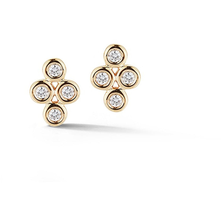 Lulu Jack Four Bezel Diamond Studs