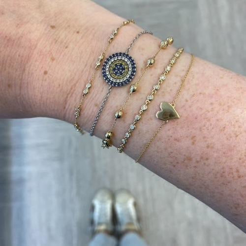 Poppy Rae Pebble Station Bracelet