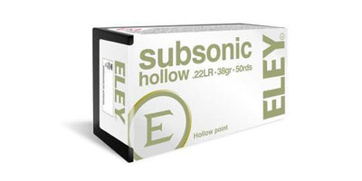 Rifle Ammo - .22 Subsonic Hollow