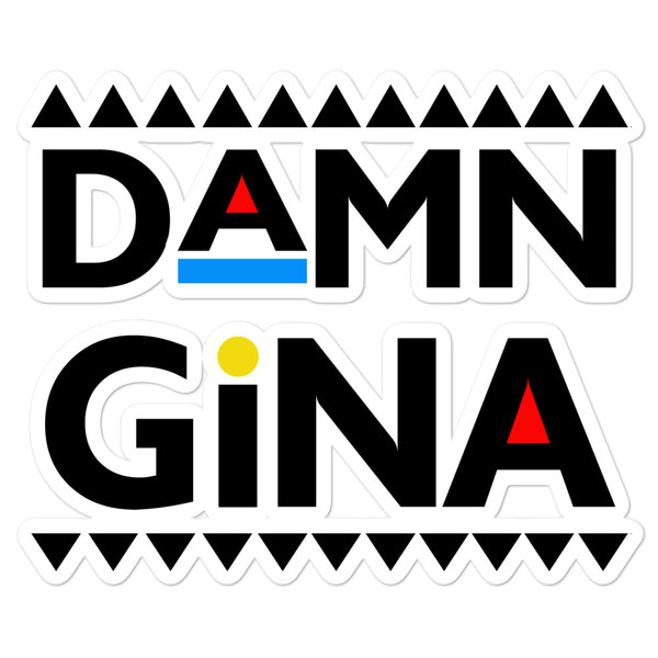 Damn Gina Bubble-free stickers