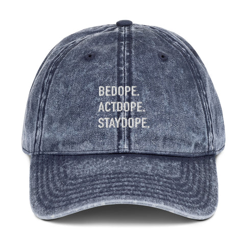 BeDope Vintage Cotton Twill Cap