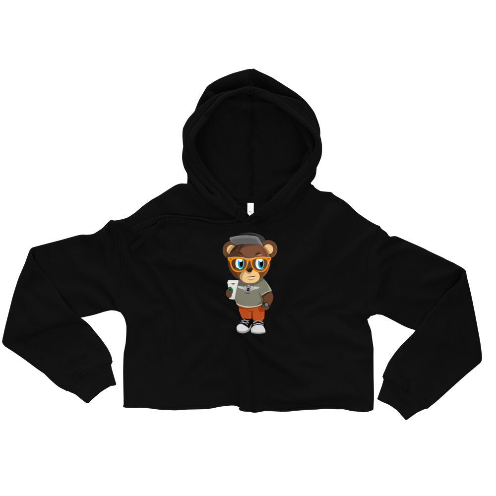 Pook The Bear Crop Hoodie