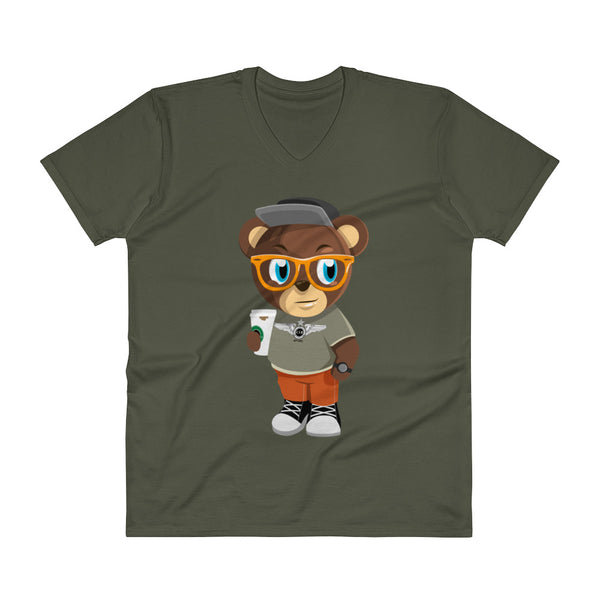 Pook The Bear V-Neck T-Shirt