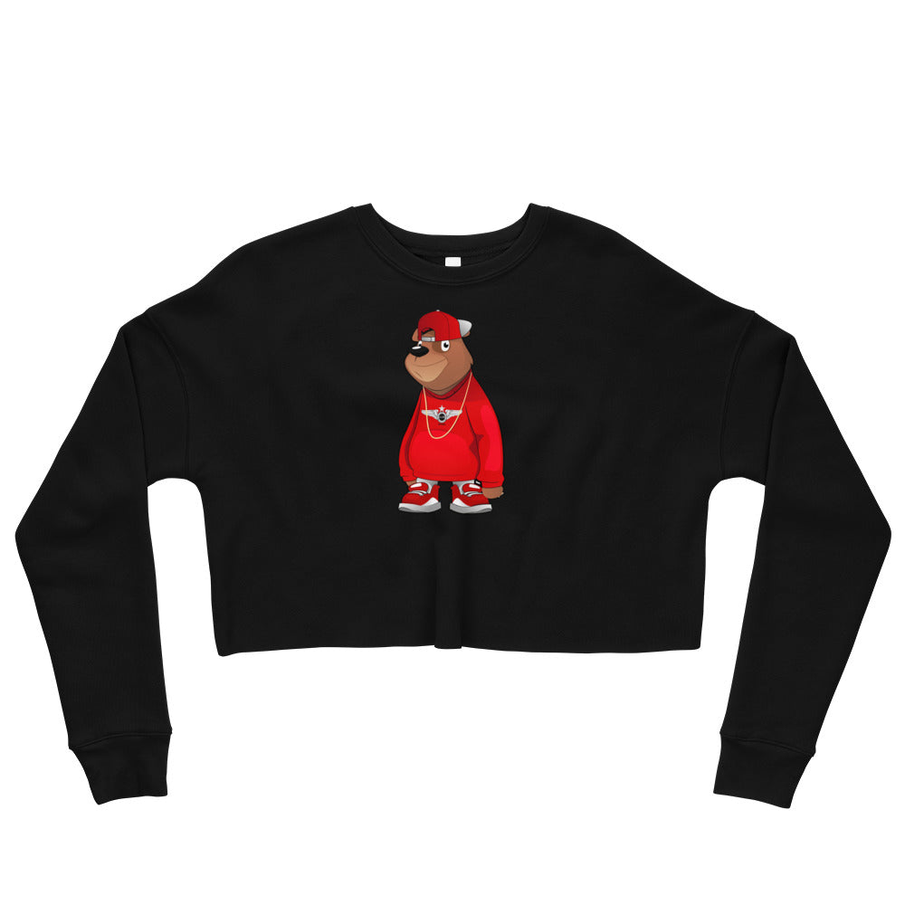Freddie The Bear Crop Sweatshirt
