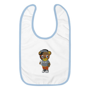 Pook The Bear Embroidered Baby Bib
