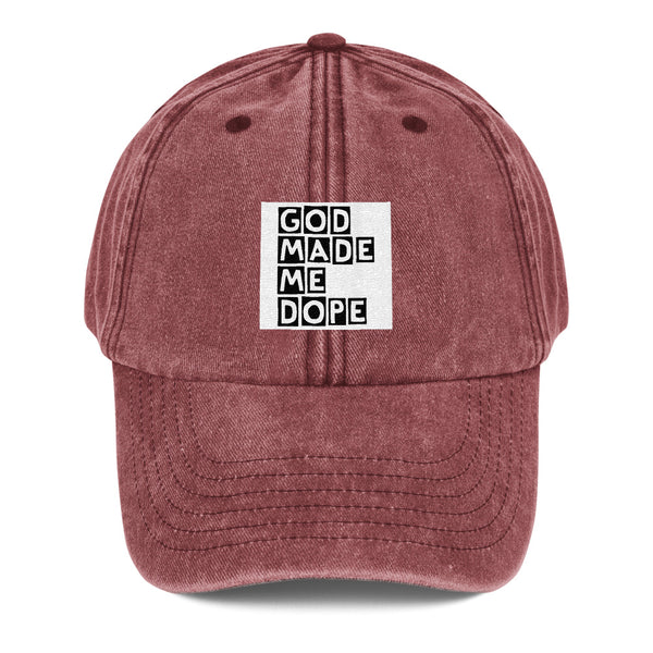 God Made Me Dope Vintage Hat