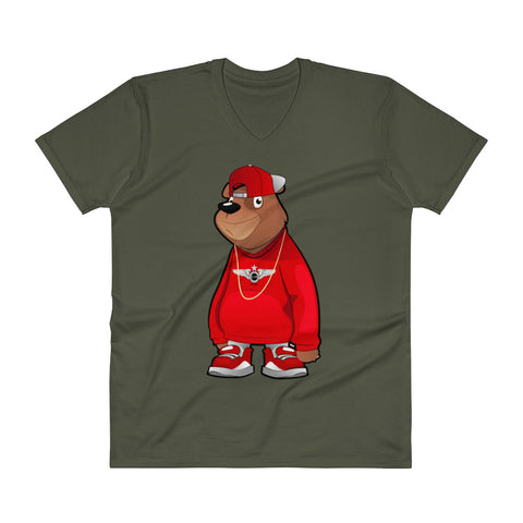 Freddie The Bear V-Neck T-Shirt