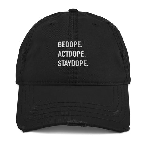 BeDope Distressed Dad Hat