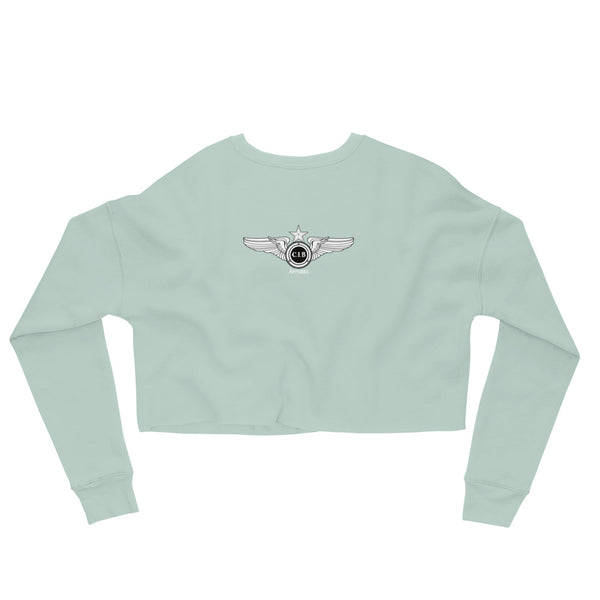 Man Sit Yo A** Down Crop Sweatshirt