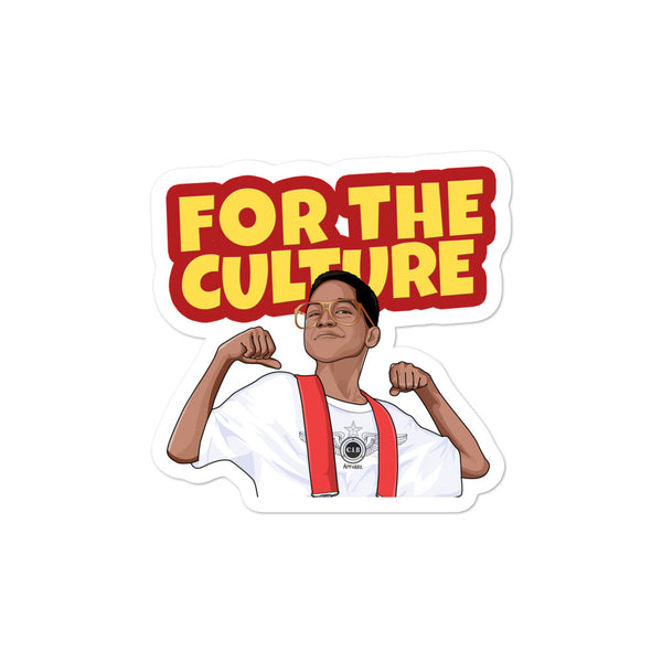 For The Culture (Steve Urkel) Bubble-free stickers