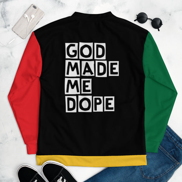 God Made Me Dope Unisex Bomber Jacket