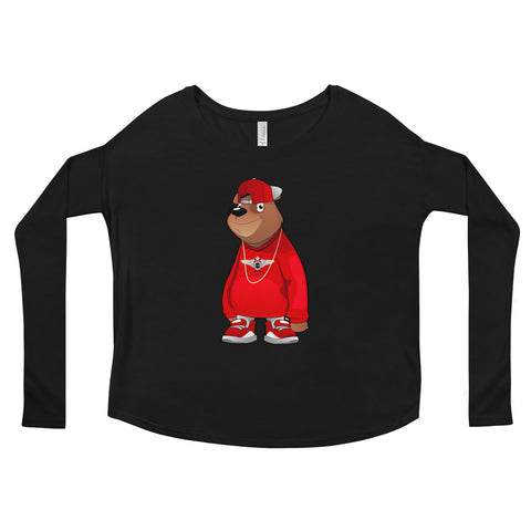 Freddie The Bear Ladies' Long Sleeve Tee