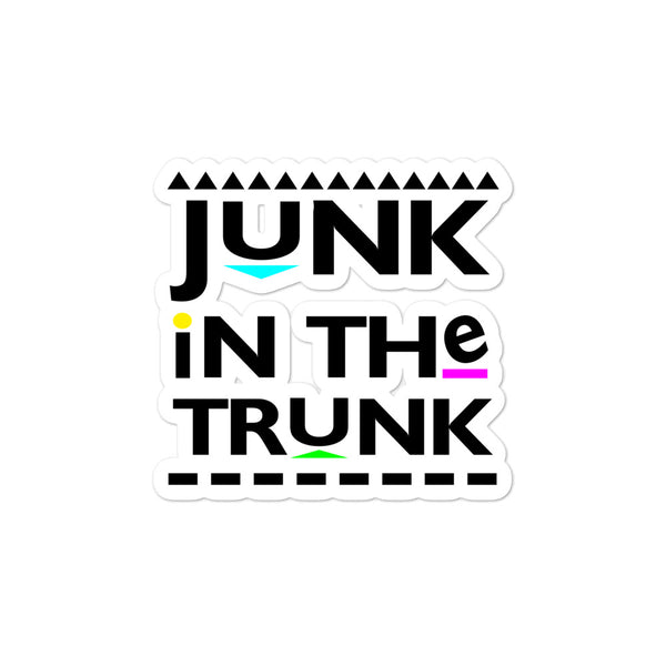 Junk in The Trunk Bubble-free stickers