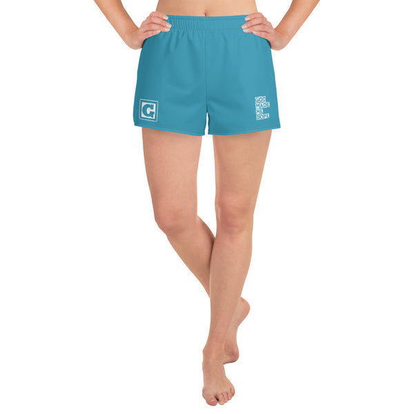 God Made Me Dope Women's Athletic Short Shorts