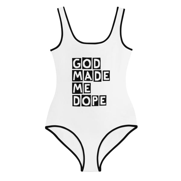 God Made Me Dope Youth Swimsuit