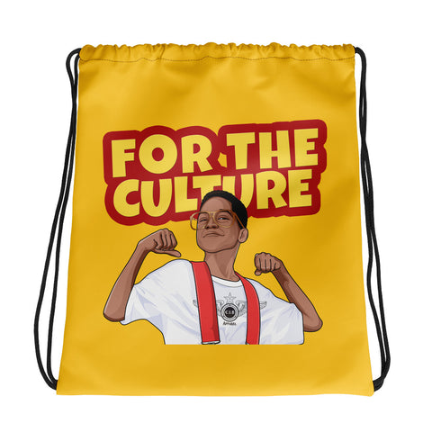 For The Culture Drawstring bag