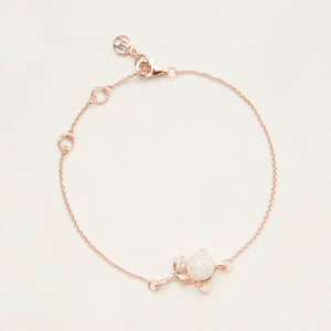 白玫瑰珍愛系列手鏈  Love White Rose Bracelet - Heting Artelier