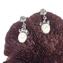 Load image into Gallery viewer, Loving White Rose Silver Bracelet & Earrings Set