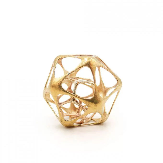 Icosa-dodecahedron Pendant (gold) - Heting Artelier