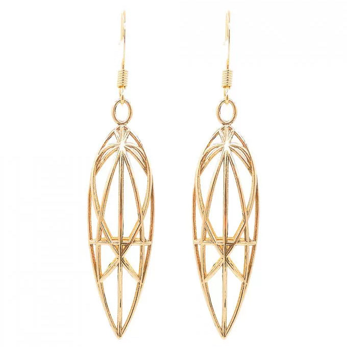 Mary Magdalene Earrings (Gold) - Heting Artelier