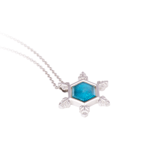 "Load image into Gallery viewer, ""Lake of my Heart"" Water Crystal pendant"