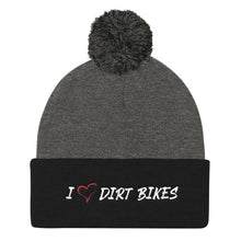 Load image into Gallery viewer, HEART DIRT BIKES - Pom Pom Knit Cap
