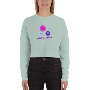 MOTO MOM DOTS - Crop Sweatshirt