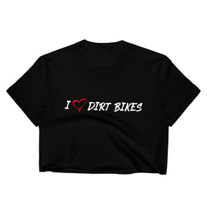 HEART DIRT BIKES - Women's Crop Top