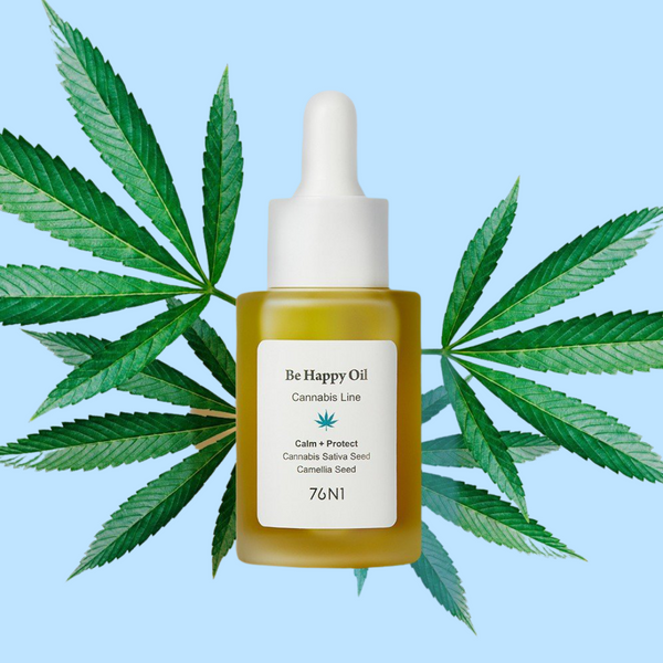 76N1 - Be Happy Calming Oil: Cannabis Sativa + Camellia