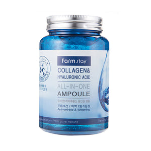 Farmstay Collagen & Hyaluronic Acid All In One Ampoule - glassangelskincare.com