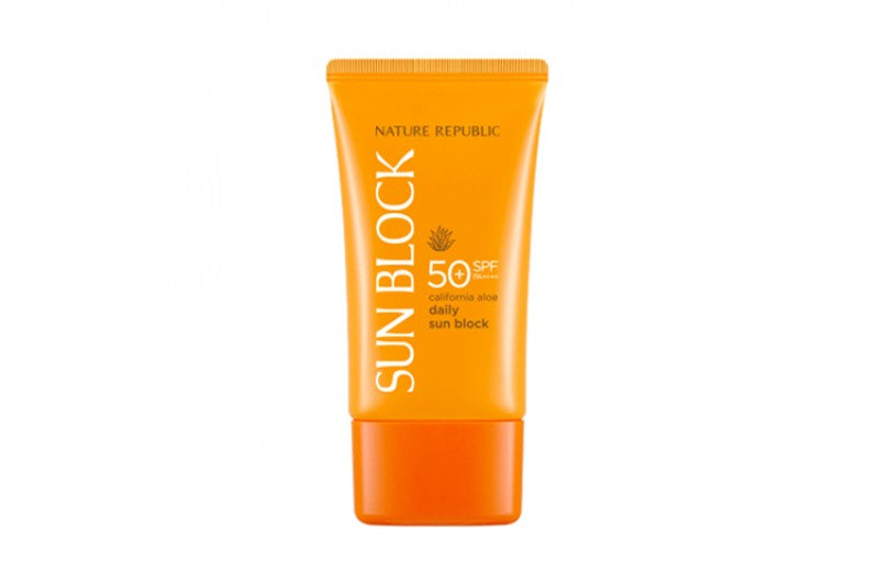NATURE REPUBLIC California Aloe Daily Sun Block SPF50+ PA++++ - glassangelskincare.com