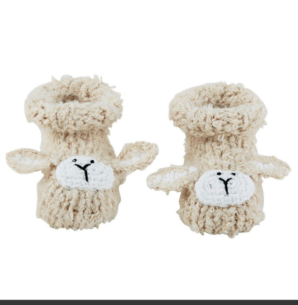 Knit Baby Lamb Booties