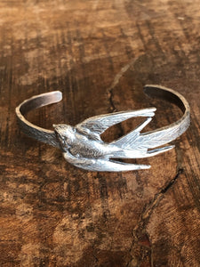 Sterling Bird Bangle