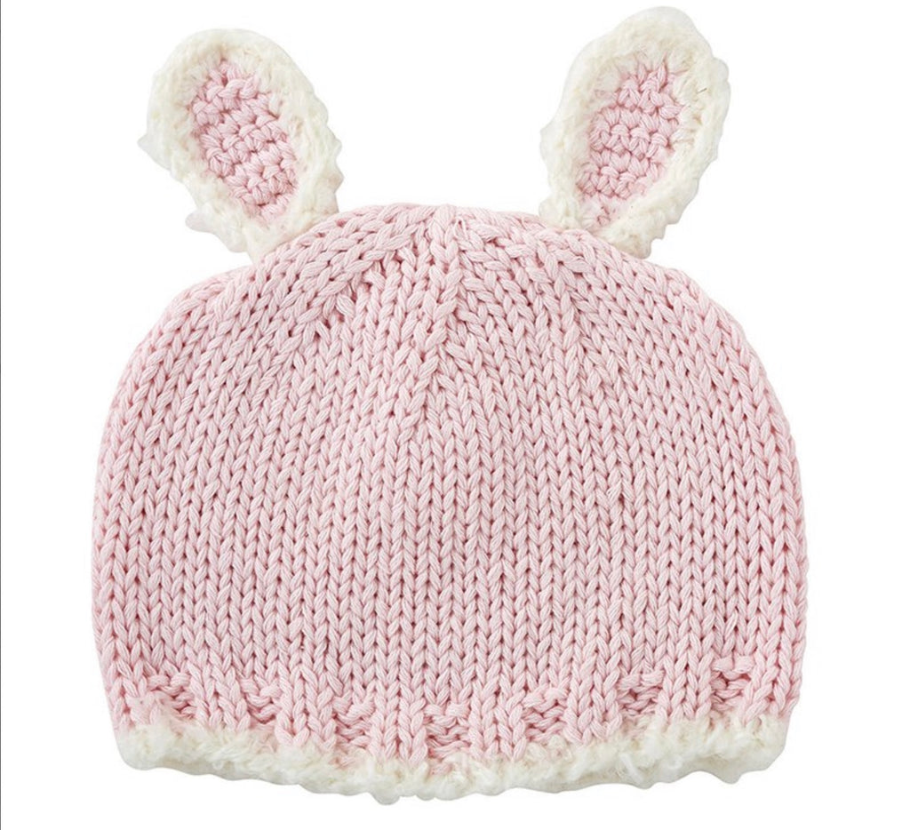 Knit Baby Pink Bunnie Hat
