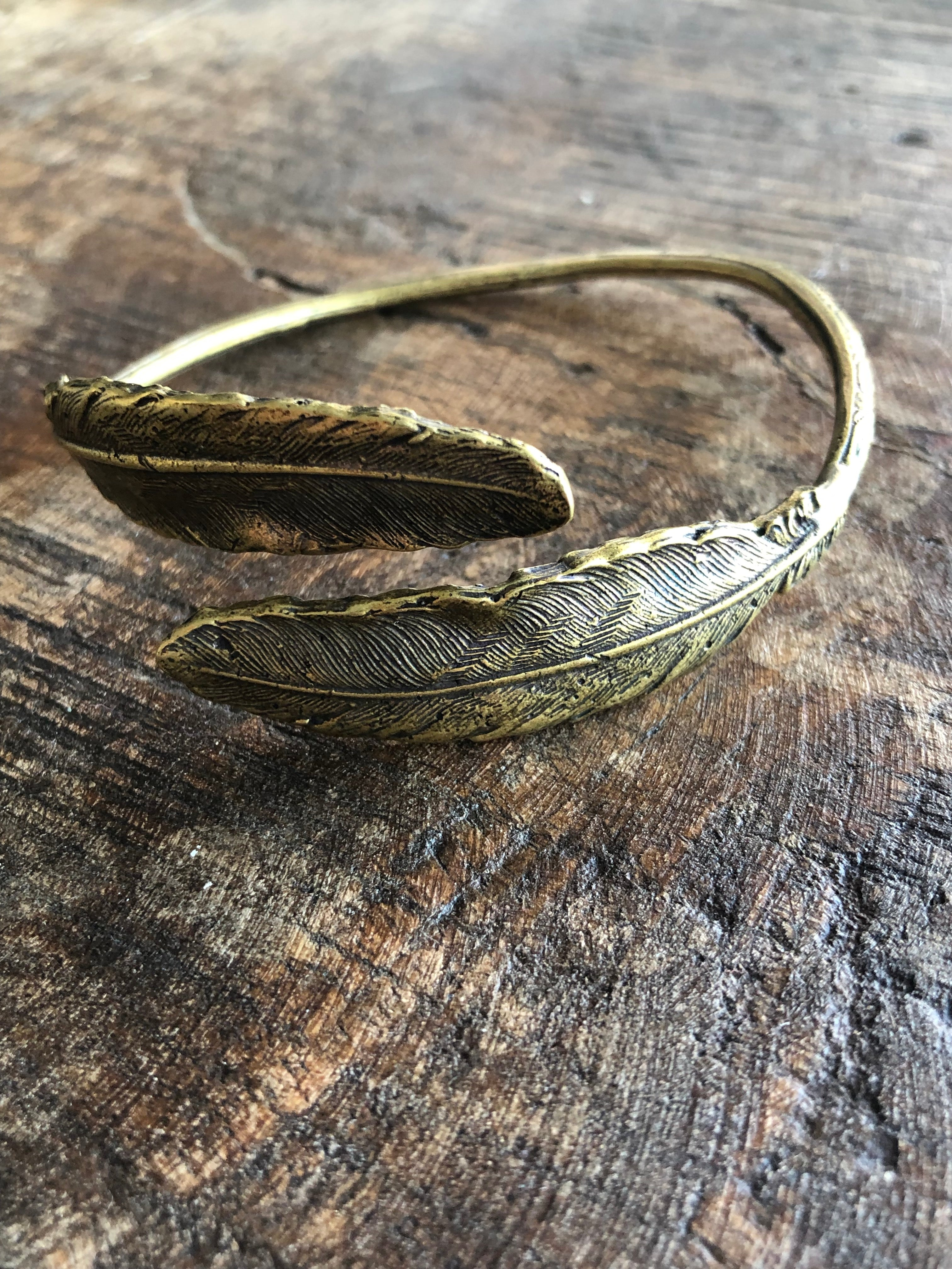 Double Feather Bangle