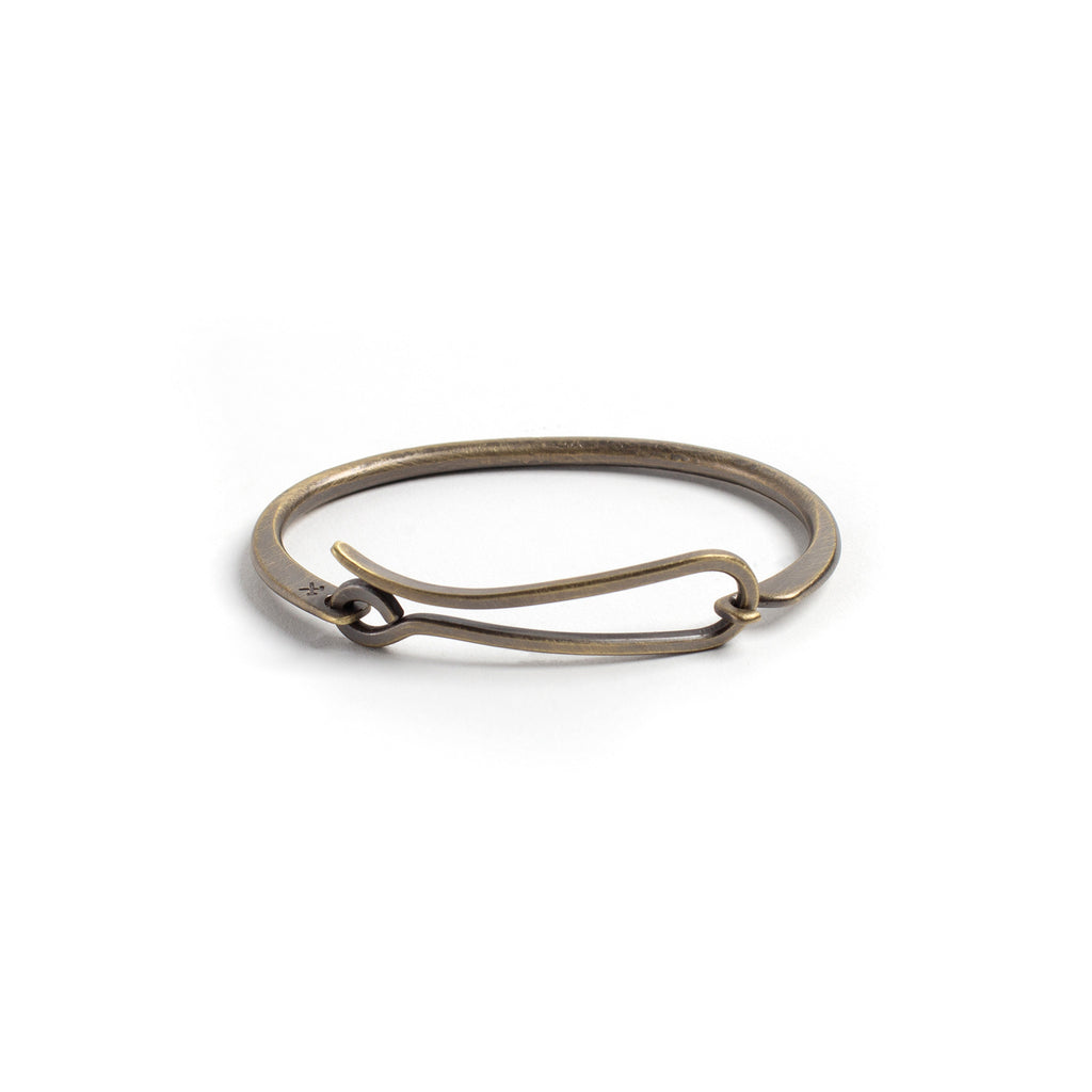 Brass Hook Bracelet - Patina S/M