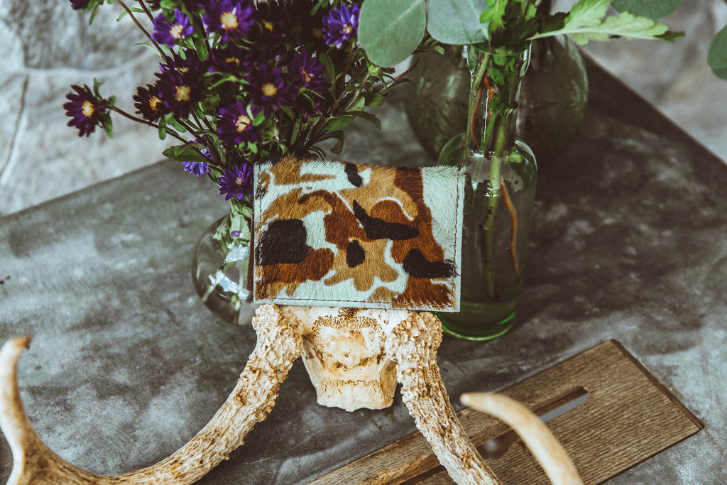 Camo Cowhide Credit Card Holder