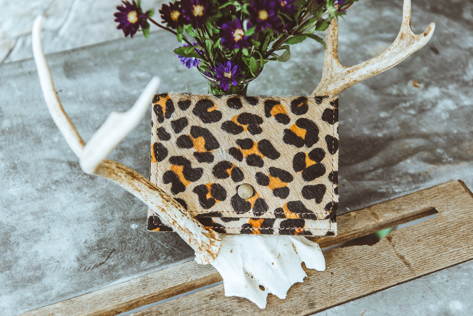Cheetah Print Cowhide Wallet