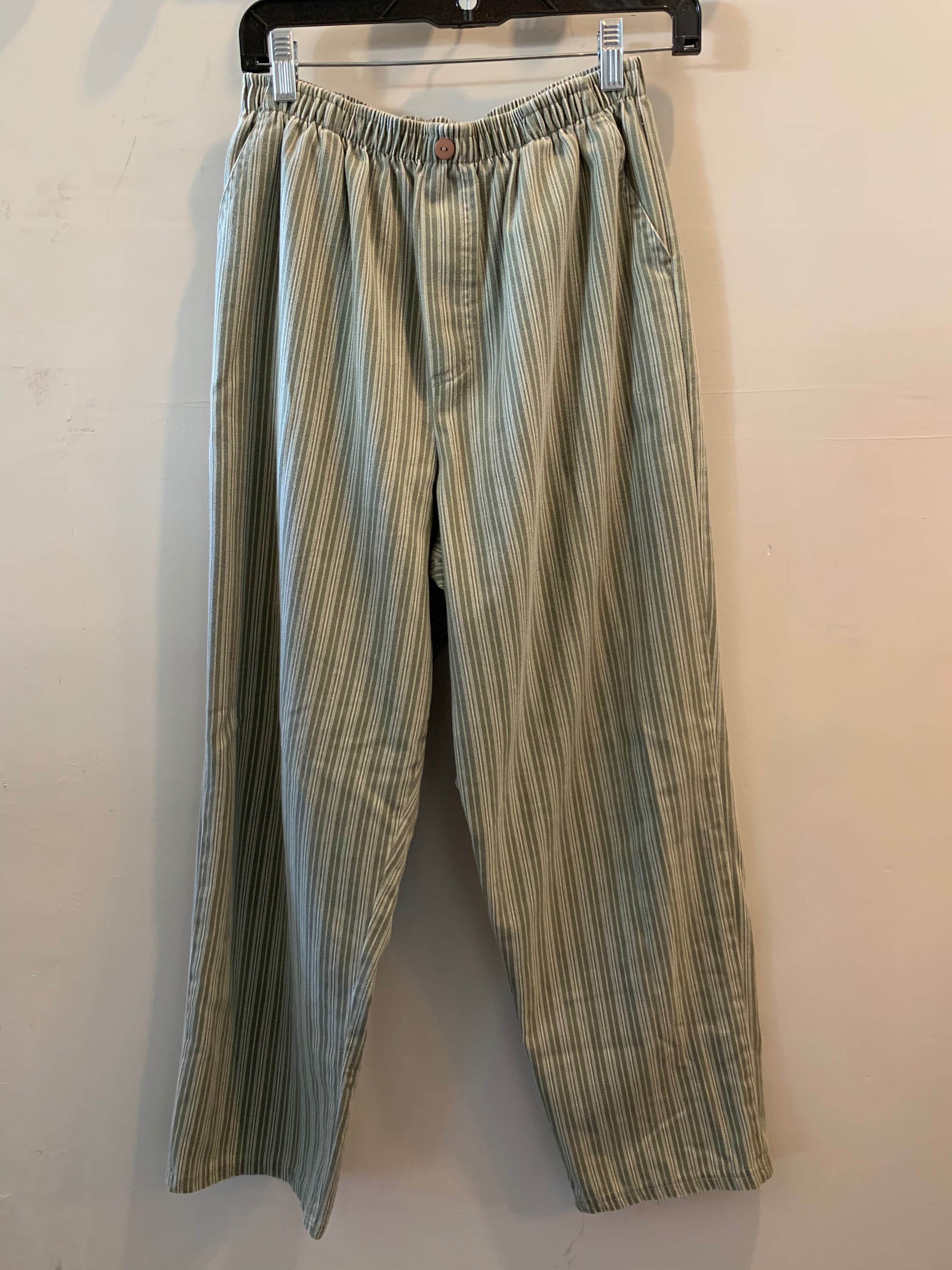 Vintage Green and White Striped Pants