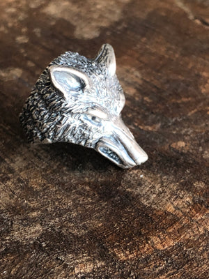 Sterling Wolf Ring