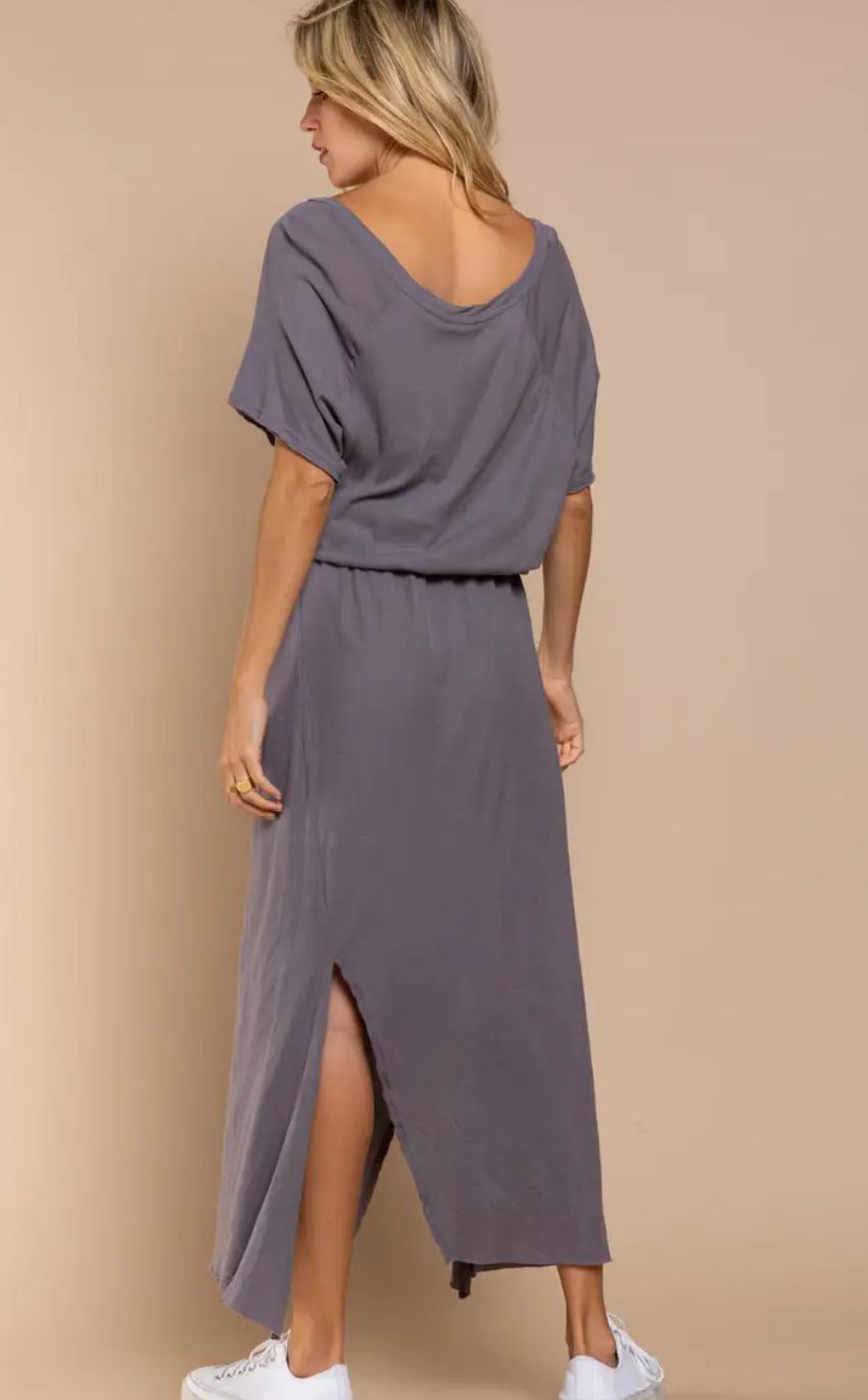 Relaxed Fit Dress - Charcoal