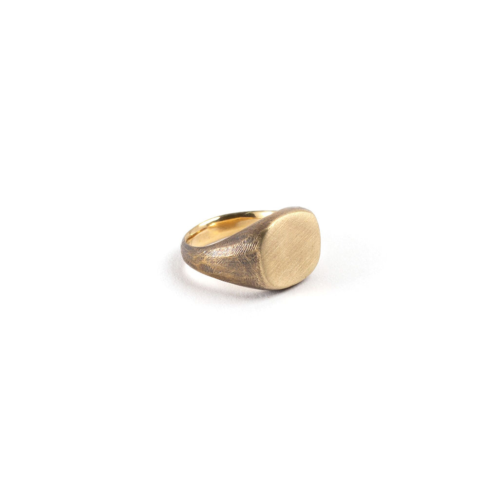 Signet Brass Ring