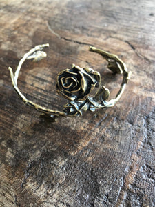 Rose With Leaves Cuff