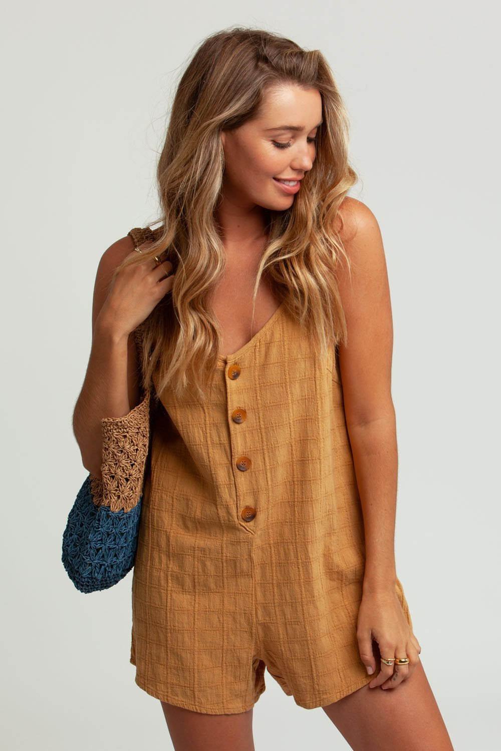 Amalie Romper - Honey