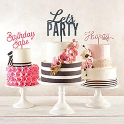 """Birthday Bake"" Acrylic Cake Topper"