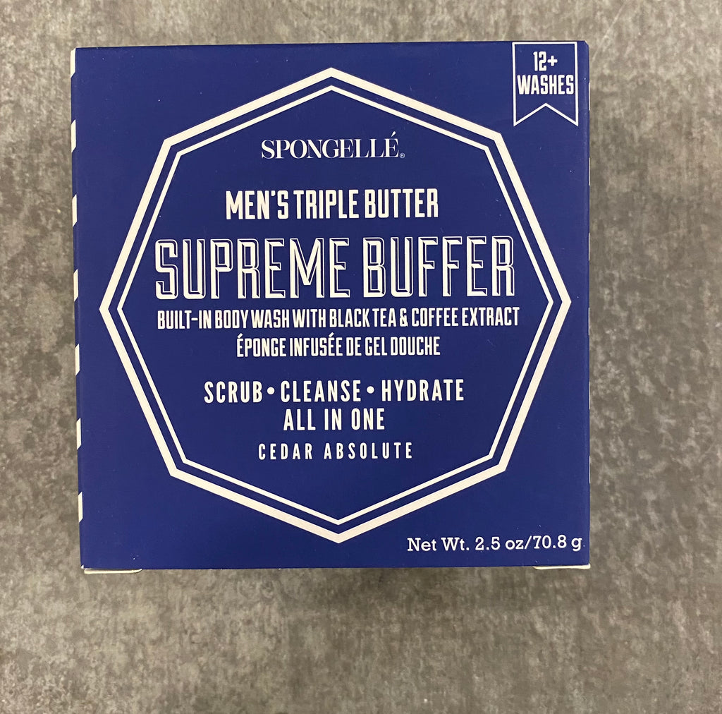 Spongelle Men's Triple Butter Supreme Buffer - Cedar Absolute