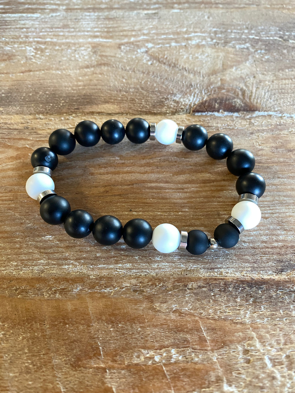 GYX White Glass Bracelets